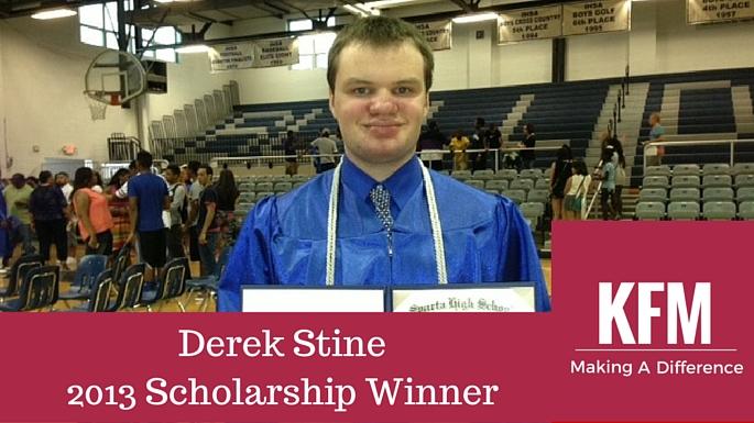 Derek Stine2013 Scholarship Winner
